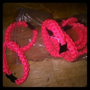 Paracord pink bracelets set of 7 brand new